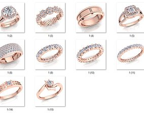 15 Luxury Woman Diamond Ring 3d Model print