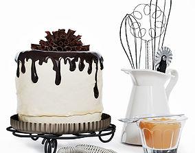 3D PBR Chocolate cake