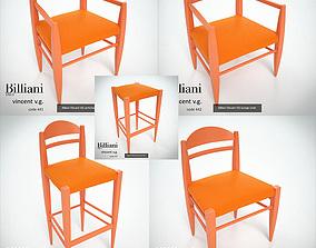 3D 5 model pack - Billiani Vincent VG orange