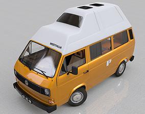 VOLKSWAGEN T3 T25 TRANSPORTER CAMPING WESTFALIA 3D model 2