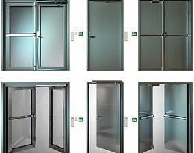 ecape Metal fire doors 3D