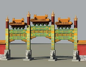 3D China ancient torii 2