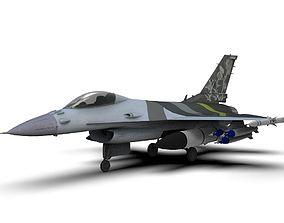 General Dynamics F-16 Fighting Falcon 3D asset