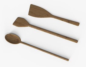 wooden spoon Collection 3D model