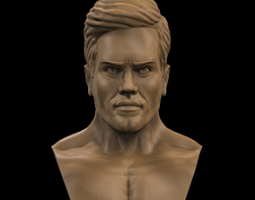 Realistic Male Head 3D printable model