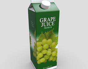 3D asset Grape Juice 2