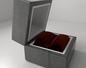 Small Wood Ring Box 3D model