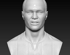 Iniesta bust 3D sculpture handmade 3D print model 3D 1