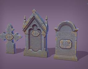 3D asset 11 Stone Heads