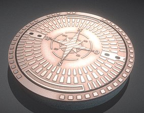 Rusty Sewer Cover 4 Textured High-Poly Version 3D
