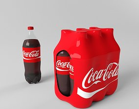 Coca-Cola Plastic Bottle with Pack 3D