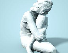 3D printable model Girl Low poly Sculpture art