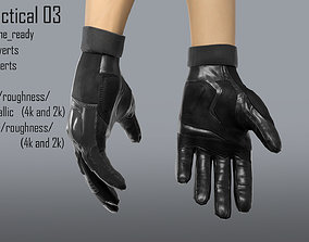 FPS hand glove tactical 03 3D model rigged