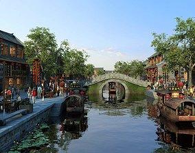 3D model China street 055 exterior