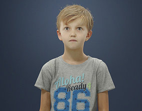 Simon Casual Boy in Jeans and T-shirt Standing 3D model