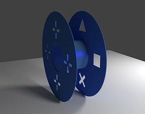 Playstation themed filament spool 3D print model