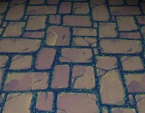 3D model ground stone grass tile 01