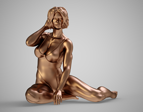 Beach Beautiful Girl 3D print model