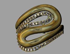 Fashion Women Ring 3D print model