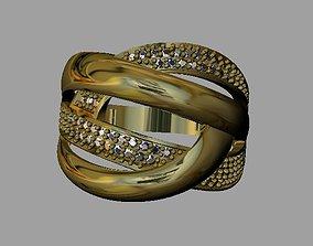3D print model gem Fashion Women Ring