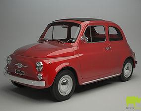 classic Fiat 500 F 1965 3D Model