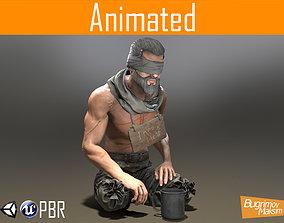 Character Beggar 3D asset