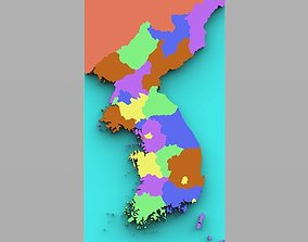 realtime Korean Peninsula Map for 3ds and obj format