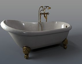 Antique Bathtub 3D model