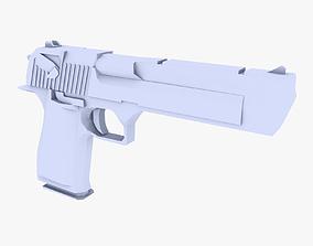 3D model Desert Eagle low poly