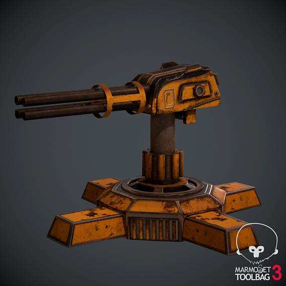 Lowpoly Gun project