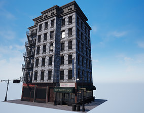 3D model New York City 1950 Modular Building With 2