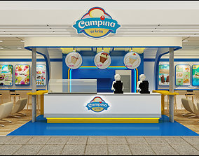 Booth Exhibition Ice cream 3D