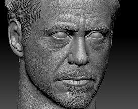 Tony Stark Robert Downey Jr BUST 3D print model
