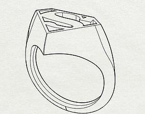 Superman ring art 3D print model
