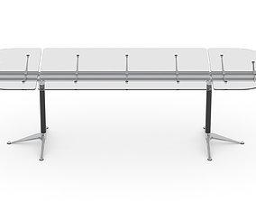 3D model Herman Miller Burdick Table 2