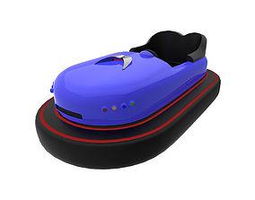 Bumper car for attractions 3D