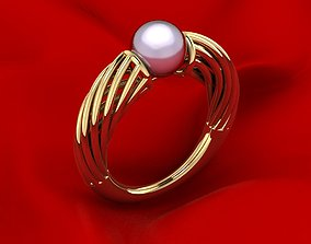 3D print model Fashion Pearl Ring