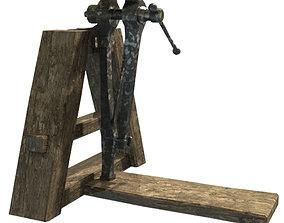 blacksmith vice 3D asset