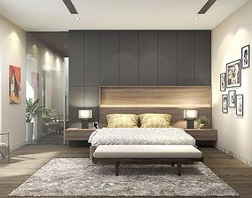 3D model Bedroom villa - Dressing room villa