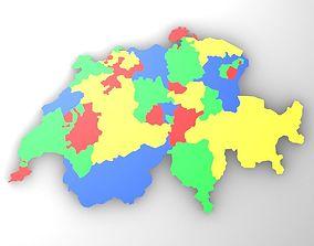 3D asset Map of Switzerland