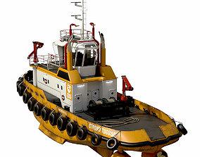 3D model Tugboat lowpoly