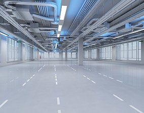 3D Large Empty Office Interior