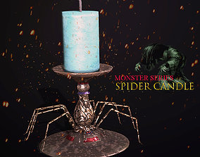 Monster Series - Spider Candle 3D asset