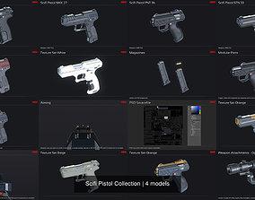 3D Scifi Pistol Collection