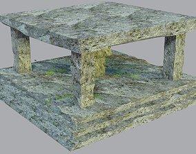 Ancient architecture stone structure 3D model