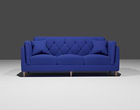 Chesterfield modern sofa 3D model chesterfield