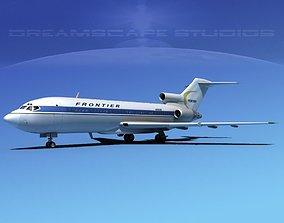 3D Boeing 727-100 Frontier