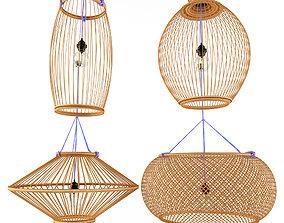 3D model Lamp rattan bamboo outdoor 2
