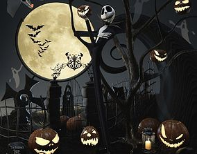3D model AVE The nightmare before christmas set Jack