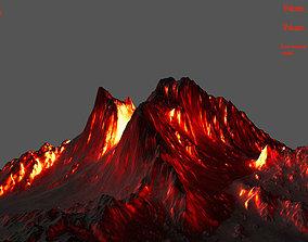 volcano stone 3D asset VR / AR ready